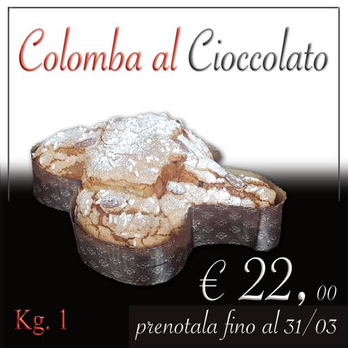 Colomba al cioccolato da kg 1